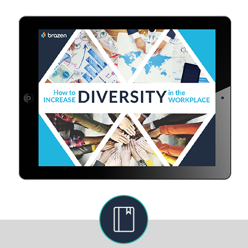 How to Increase Diversity eBook cover and CTA