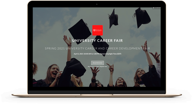 Customizable landing page for school career fair with device
